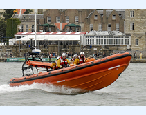 Cowes Atlantic 85 class inshore lifeboat Tabbycat B-810 during S