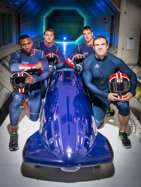 075 GB Bobsleigh Team working with BAE Systems