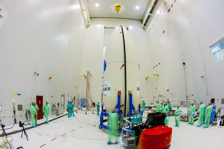 IXV during fairing encapsulation fullwidth
