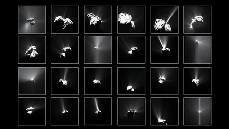 Comet outbursts large